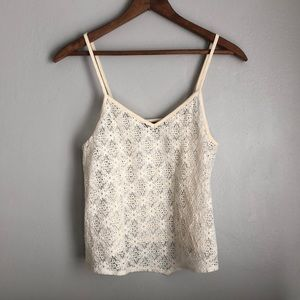 American Eagle sheer lace crop top